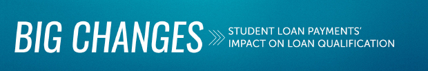 BIG CHANGES: Student Loan Payments Impact On Loan Qualification